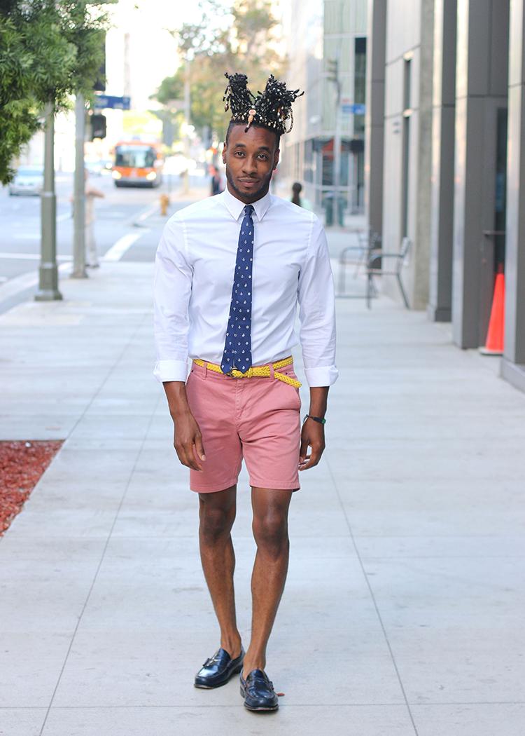 pink shorts mens style
