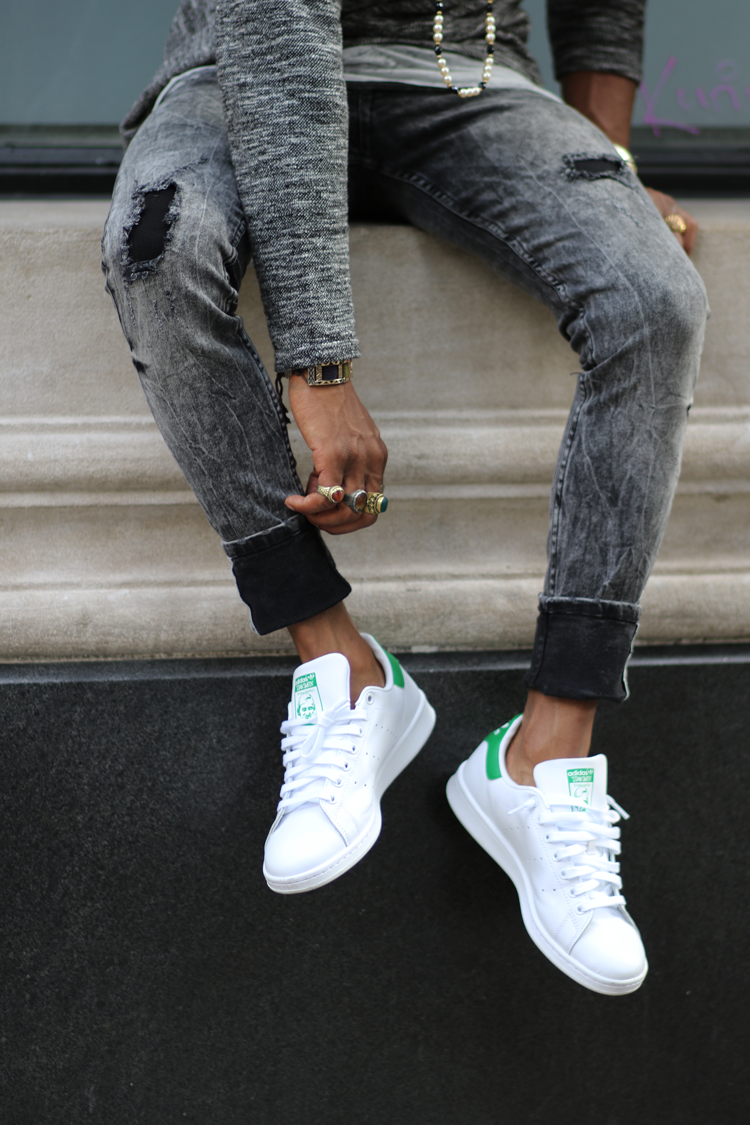 I personally like the simplicity of the Stan Smith Adidas because they took  a well designed sneaker that anyone could pull off and added just enough  details ... da53f9453