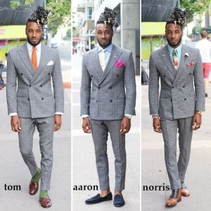 HOW TO STYLE A DOUBLE-BREASTED SUIT; TOM – AARON – NORRIS – Norris