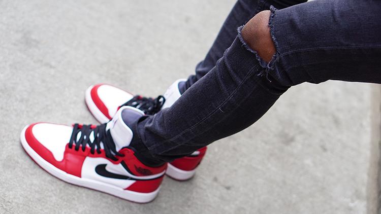 Air Jordan 1 Chicago Jeans Noirs Le moins cher maRsbpdHW