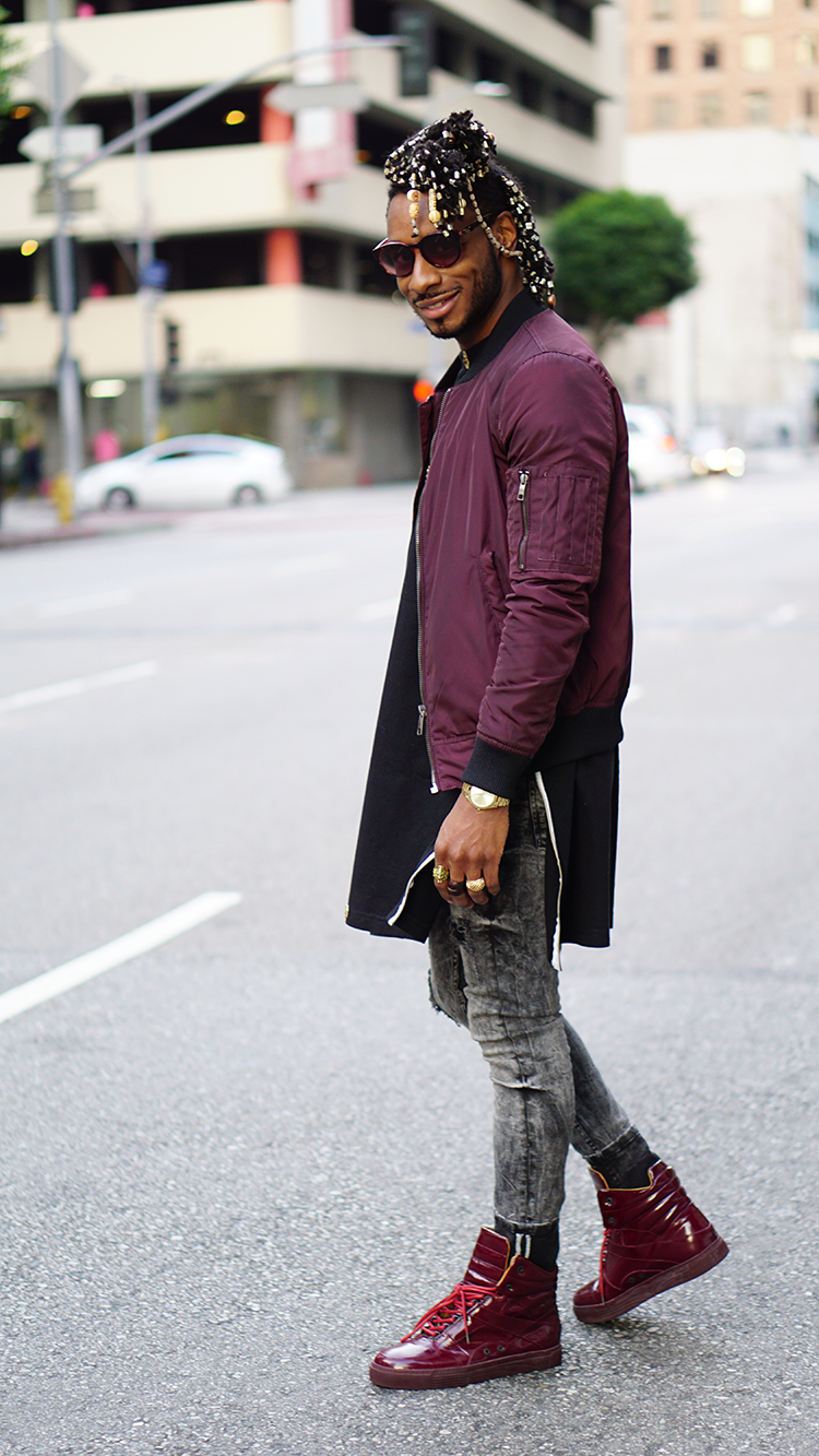 Black Bomber Jacket Men