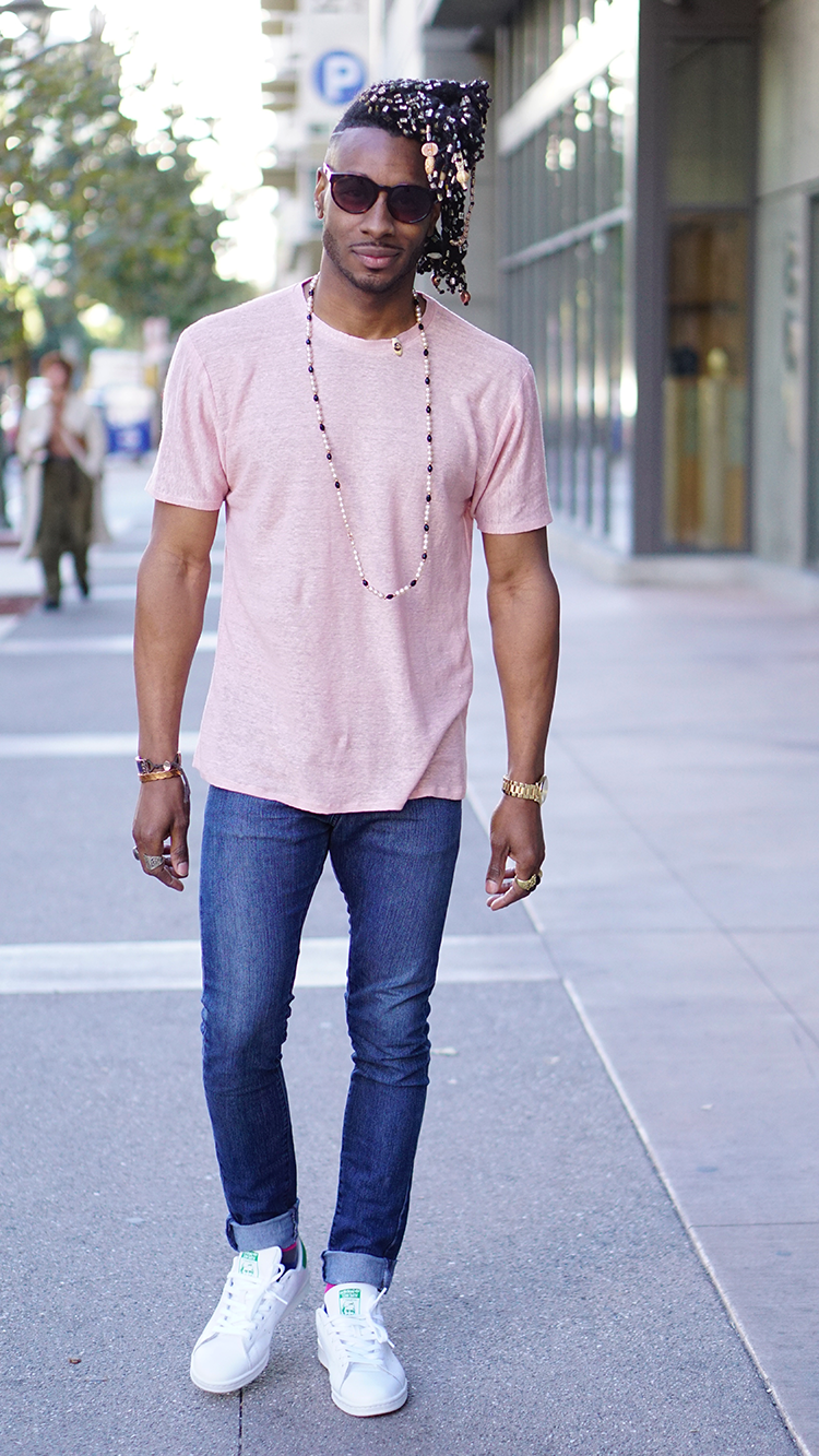 nice pink shirt outfit male 12