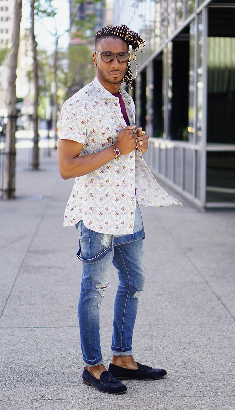How to rock overalls for casual wear norris danta ford for Mens shirt with tassels